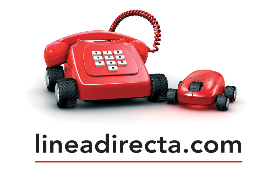 Lineadirecta logo red phone & mouse