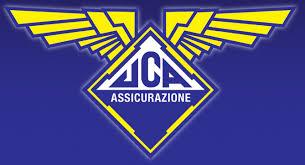 UCA Logo Assicurazione Blue bakcground square wings