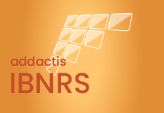 Logo addactis® IBNRS® Yellow background triangles