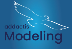 Logo addactis® Modeling Bleue background eagle