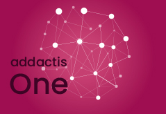 Logo addactis® One Pink background Round Connected points