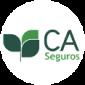 CA Seguros logo on white round