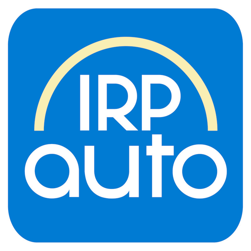 IRP-auto logo on blue square