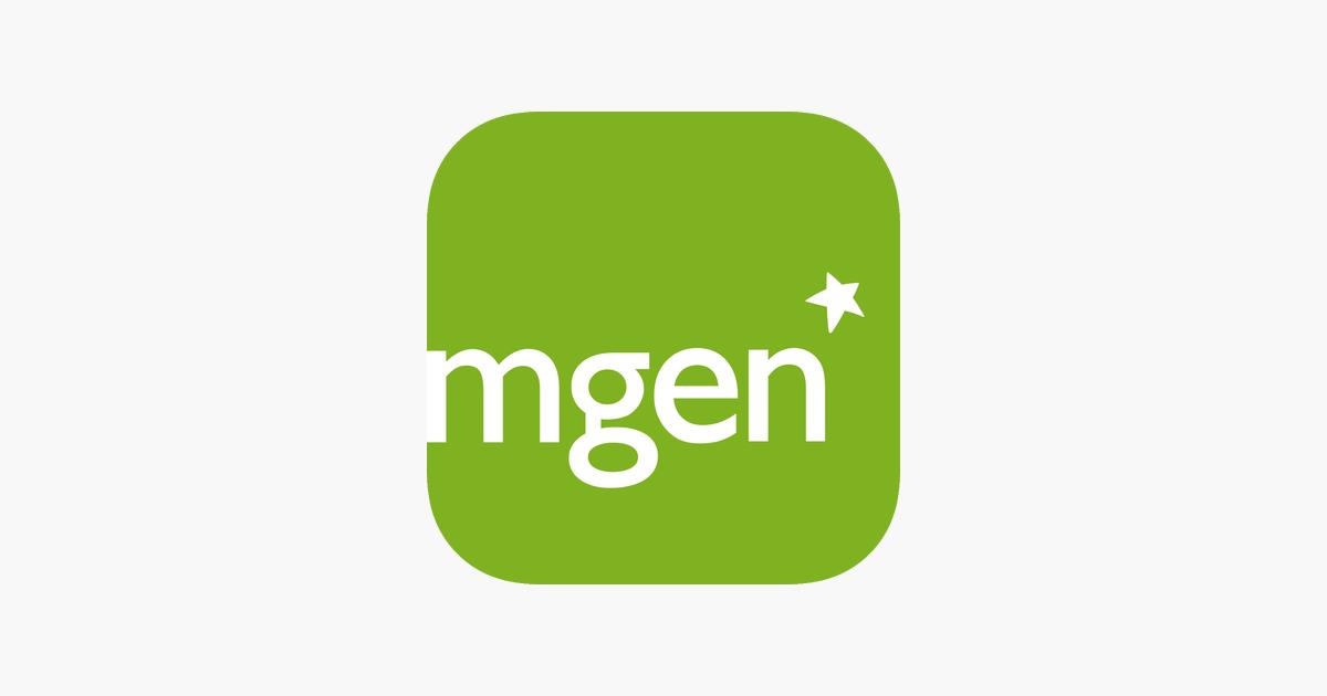 MGEN logo on green square star