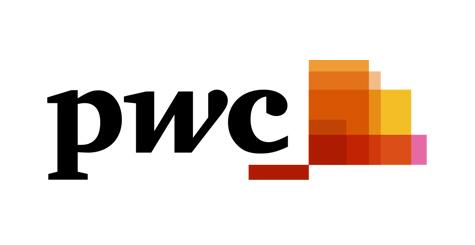 PWC logo on white square