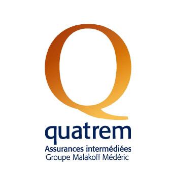 Quatrem logo Assurances intermédiées Groupe Malakoff Mederic