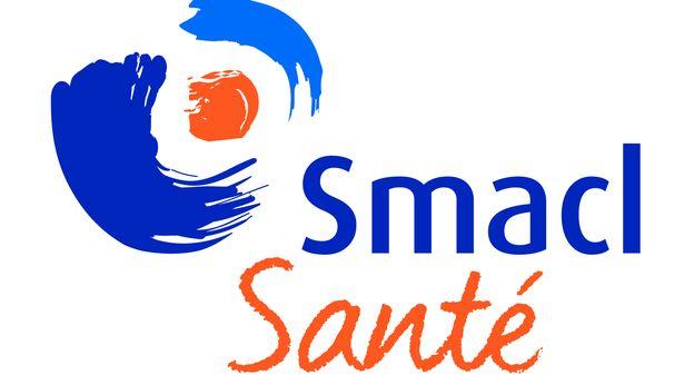 Smacl sante logo on white square