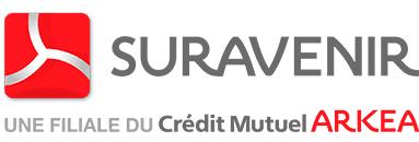 Suravenir filiale du Credit Mutuel Arkea Logo on white square