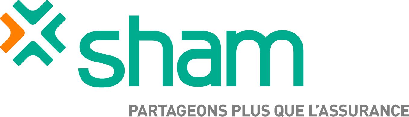Sham logo on white square Partageons plus que l'assurance