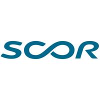 Scor logo on white square